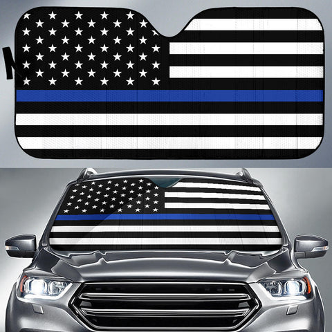 Thin Blue Line Flag - Auto (Car) Sun Shade - Type 1