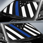 Thin Blue Line Flag - Auto Sun Shade - Type 3