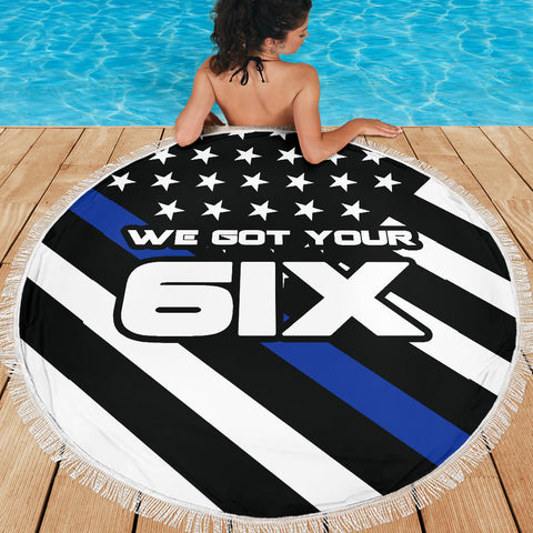 We Got Your Six - Thin Blue Line Beach Blanket