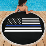 Thin Blue Line Beach Blanket - Type 2