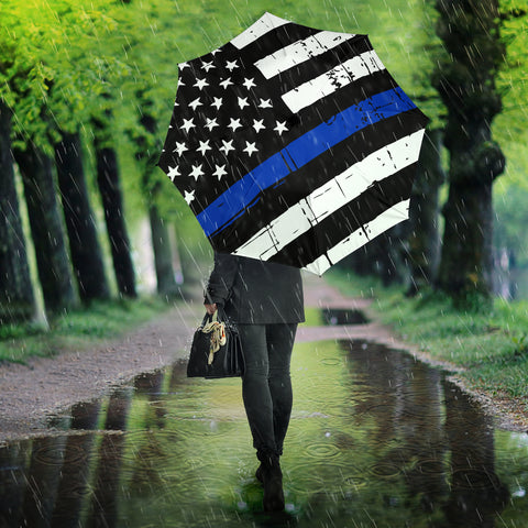 Thin Blue Line Flag Umbrella - Type 3