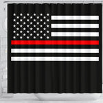 Thin Red Line Shower Curtain - Type 1