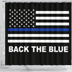 Back the Blue - Thin Blue Line Shower Curtain