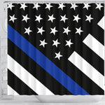 Thin Blue Line Shower Curtain - Type 2 - Mallory