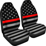 Thin Red Line Flag - Car Seat Covers 1 (Set of 2)
