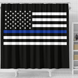 Thin Blue Line Flag - Shower Curtain