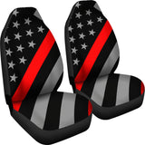 Thin Red Line Flag - Car Seat Covers 3 (Set of 2)