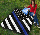 Thin Blue Line Quilt - Type 2