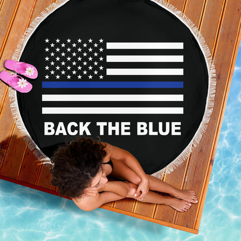 Back the Blue - Thin Blue Line Beach Blanket