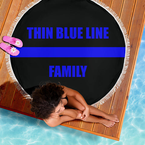 Thin Blue Line Family - Beach Blanket