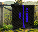 Thin Blue Line Family - Quilt