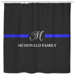 Personalized Shower Curtain - Classy - McDonald