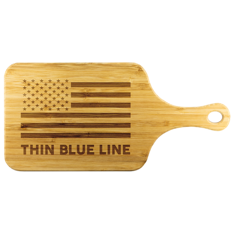 Thin Blue Line - Cutting Board with Handle