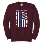 "Youth ""Protect Serve Honor"" Sweatshirt - Kids"