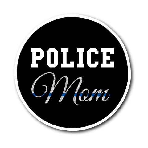 Police Mom - Thin Blue Line Sticker/Decal