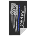 Thin Blue Line Beach Towel - AP1