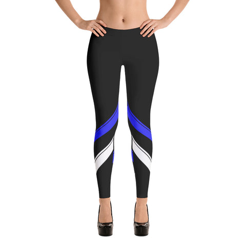 Double Blue Line Leggings