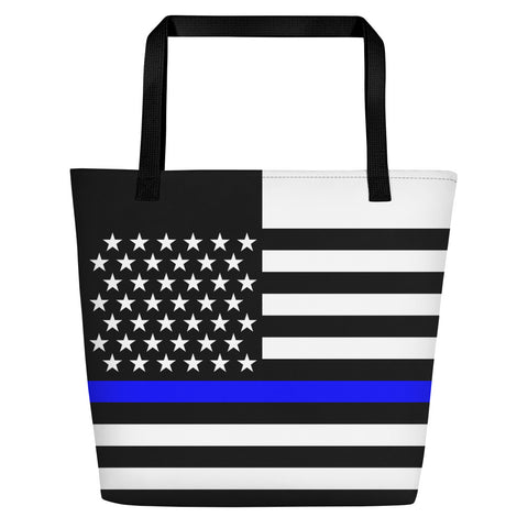 Thin Blue Line Flag - Beach Bag