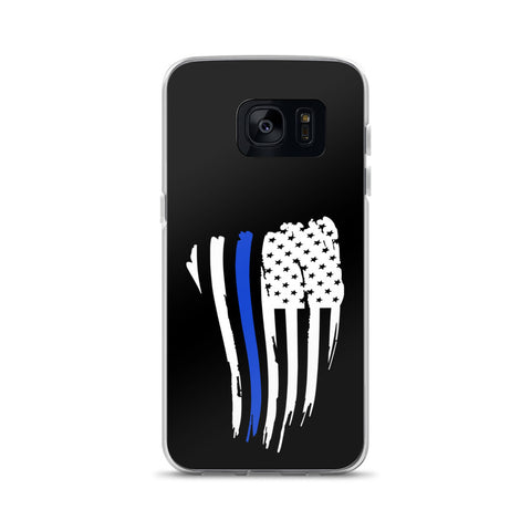 Thin Blue Line American Flag - Phone Case