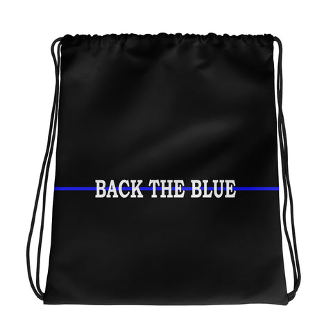 Back The Blue - Thin Blue Line Drawstring Bag
