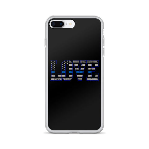 iPhone - Thin Blue Line Love - Phone Case