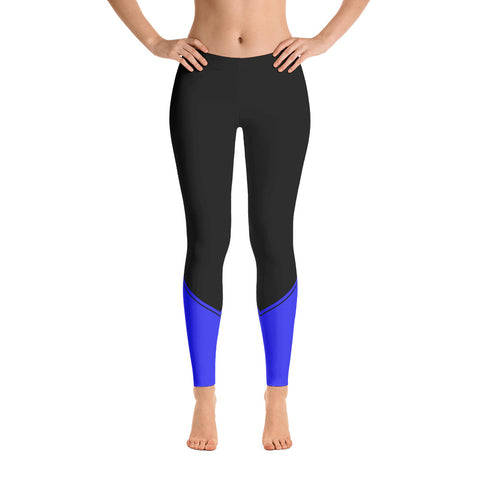 Thin Blue Line Base Leggings