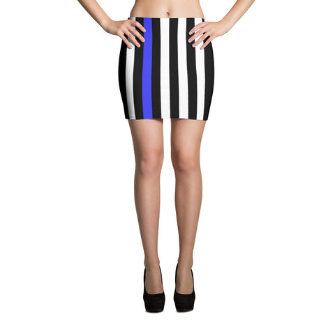 Thin Blue Line Flag Mini Skirt