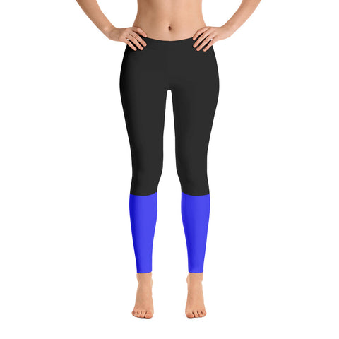 Thin Blue Line Base Leggings - Version 1
