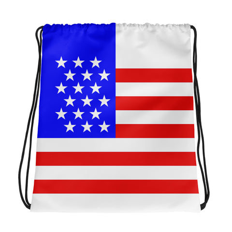 American (USA) Flag - Drawstring Bag
