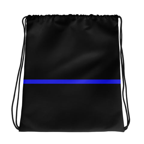 Blue Line Drawstring Bag - Narrow Line