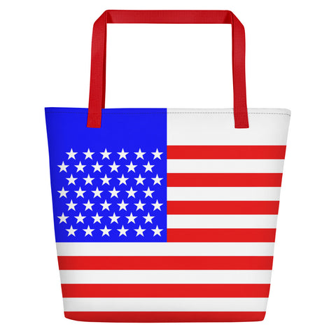 American (USA) Flag - Beach Bag