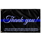 Thin Blue Line - Thank You Flag