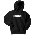 """Honor"" - Thin Blue Line Kids Hoodie"