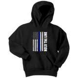 Hold the line - Thin Blue Line - Kids Hoodie