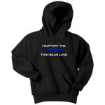 """I support the Thin Blue Line"" - Kids Hoodie"