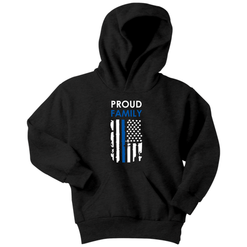 Proud Family - Thin Blue Line - Kids Hoodie