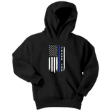 Thank You - Thin Blue Line Kids Hoodie