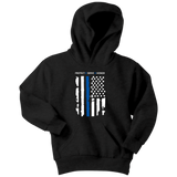 """Protect Serve Honor"" - Thin Blue Line Kids Hoodie"
