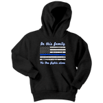 In this family no-one fights alone - Kids Hoodie