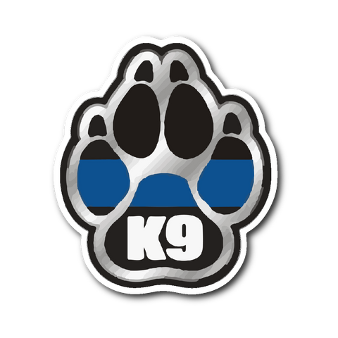 K9 Paw - Thin Blue Line Sticker/Decal