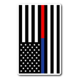 Blue and Red Line American Flag Sticker