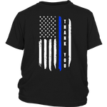 Thank You - Thin Blue Line Kids Shirt