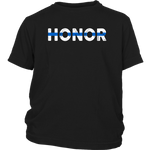 """Honor"" - Thin Blue Line Kids Shirt"