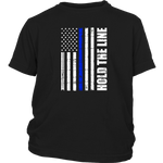 Hold the line - Thin Blue Line - Kids Shirt
