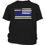 """Respect this Line"" - Thin Blue Line Kids Shirt"