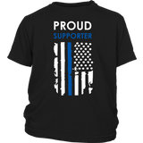 Proud Supporter - Thin Blue Line - Kids Shirt