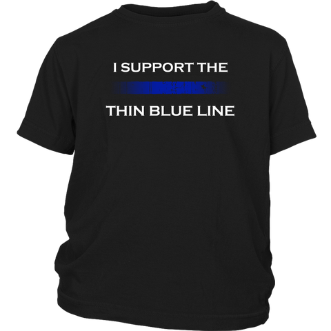 """I support the Thin Blue Line"" - Kids Shirt"