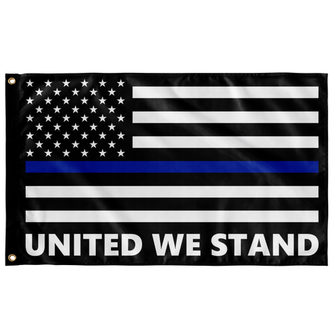 United We Stand - Thin Blue Line Flag - Version 2