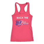 Women's Back the Blue Badge - Racerback Tank Top
