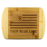 Thin Blue Line - Wood Cutting Board